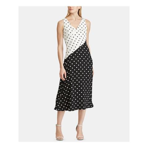 RALPH LAUREN Black Sleeveless Midi Dress 16