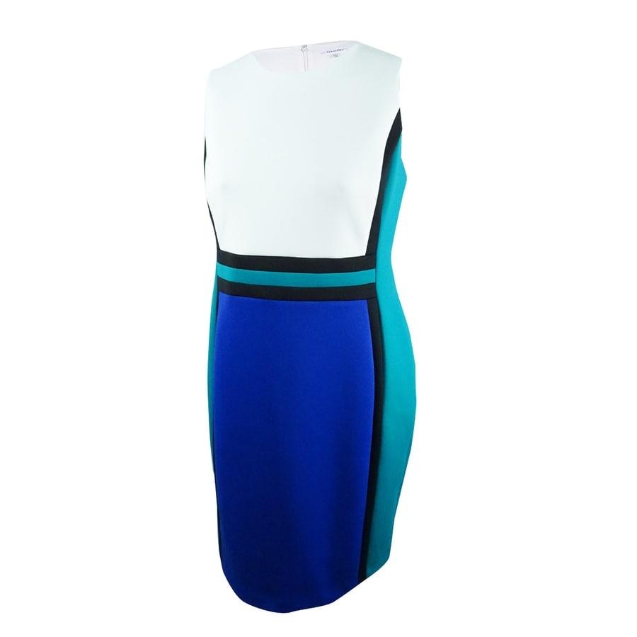 Calvin Klein Womens Colorblocked Dress