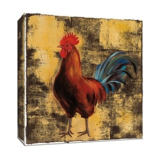 "PTM Images 9-153091  PTM Canvas Collection 12"" x 12"" - ""Rooster in the Sun II"" Giclee Roosters Art Print on Canvas"
