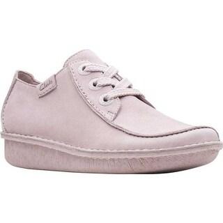 Clarks Women's Funny Dream Lace Up Shoe Dusty Pink Nubuck