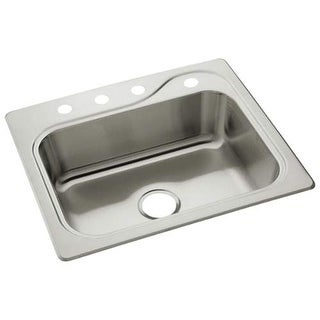 "Sterling 11404-4 Southhaven 25"" Single Basin Drop In Stainless Steel Kitchen Sin - Stainless Steel"