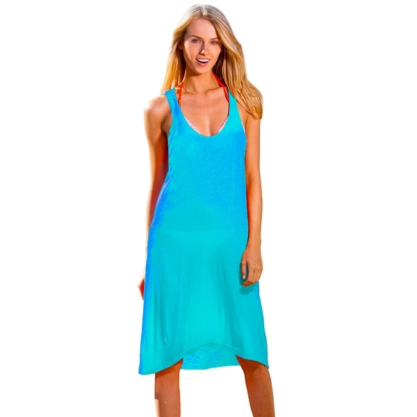 c0fd832751 Shop Ingear Racerback Summer Beach Casual rayon Short Dress Cover Up - Free  Shipping On Orders Over $45 - Overstock - 22048038