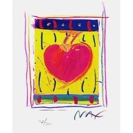 "Heart Series VI, Ltd Ed Lithograph (Mini 5"" x 4""), Peter Max"