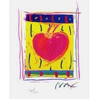 "Heart Series VI, Ltd Ed Lithograph (Mini 5"" x 4""), Peter Max"