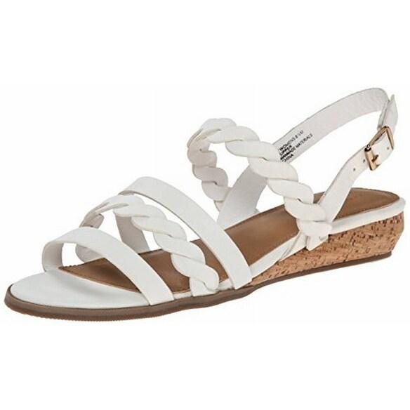 G.H. Bass & Co. NEW White Women's Shoes Size 8M Jolie Sandal