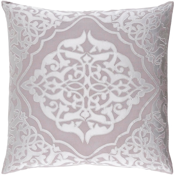 "22"" Platinum Gray and Cool Gray Woven Patterned Decorative Throw Pillow"