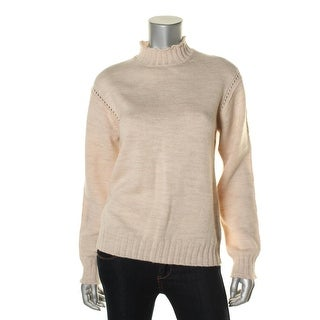 Alexa Chung for AG Womens Wool Mock Turtleneck Pullover Sweater - M