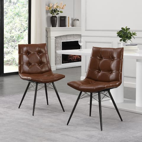 Pineview Contemporary Tufted Dining Chairs with Toothpick Legs (Set of 2) by Christopher Knight Home