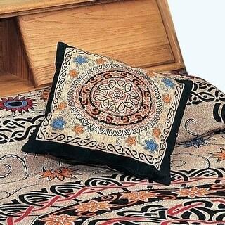 Handmade 100% Cotton Celtic Sunflower Cushion Cover Shell 17x17 Vibrant Colors
