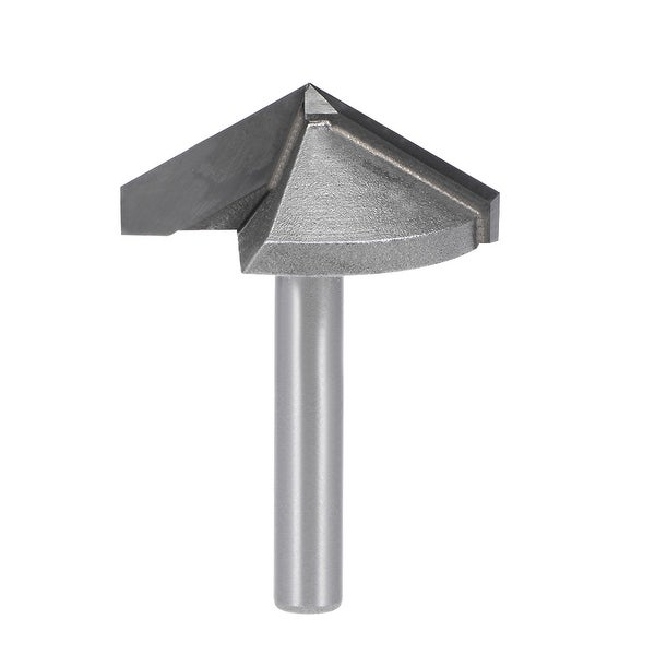 Router Bit 6mm Shank 32mm Dia. 120 Degree V-Groove End Mill Tungsten Steel CNC - Silver - 6x32mm 120 Degree
