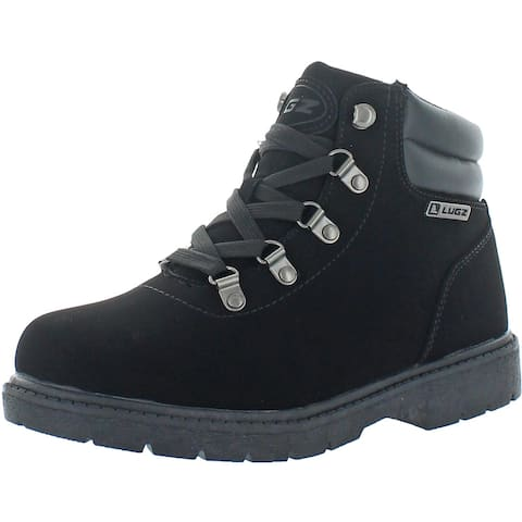 Lugz Women's Lynnwood Mid Faux Leather Mid Top Hiking Chukka Boots - Black