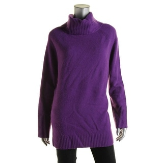 Lauren Ralph Lauren Womens Wool Ribbed Trim Pullover Sweater