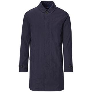 Polo Ralph Lauren Navy Blue Cotton Blend Twill Raincoat XXL 2XL