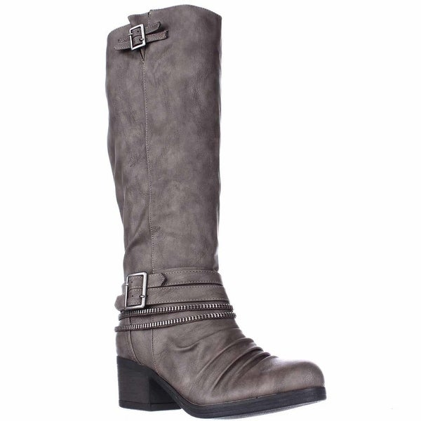 Carlos by Carlos Santana Candace Zipper Lined Knee High Boots, Grey