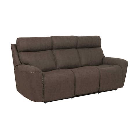 Abbyson Benny Fabric Power Reclining Sofa With Power Headrests