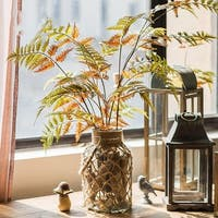 """G Home Collection Rustic Artificial Cyathea Leaf Stem 34"""" Tall"""