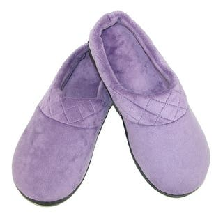 Dearfoams Women's Microfiber Velour Clog Slipper with Quilt Detail|https://ak1.ostkcdn.com/images/products/is/images/direct/e9a8f43f45f3706c5fea412685d48330ace68cba/Dearfoams-Women%27s-Microfiber-Velour-Clog-Slipper-with-Quilt-Detail.jpg?impolicy=medium