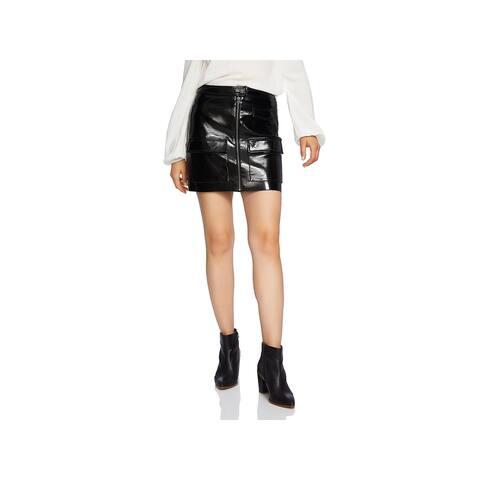 1.State Womens Skirt Leather Mini