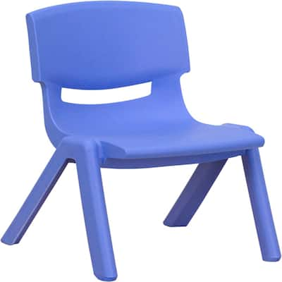 """Furniture Seating Chairs Stack, 10.5"""", Blue - Exact Size"""