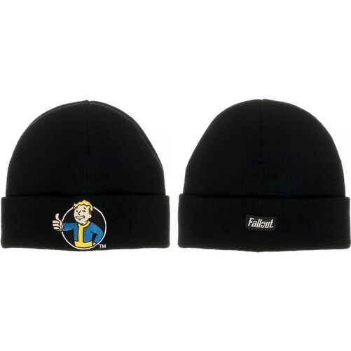 Authentic FALLOUT 111 Vault Tec Cuffed Knit Beanie Hat NEW