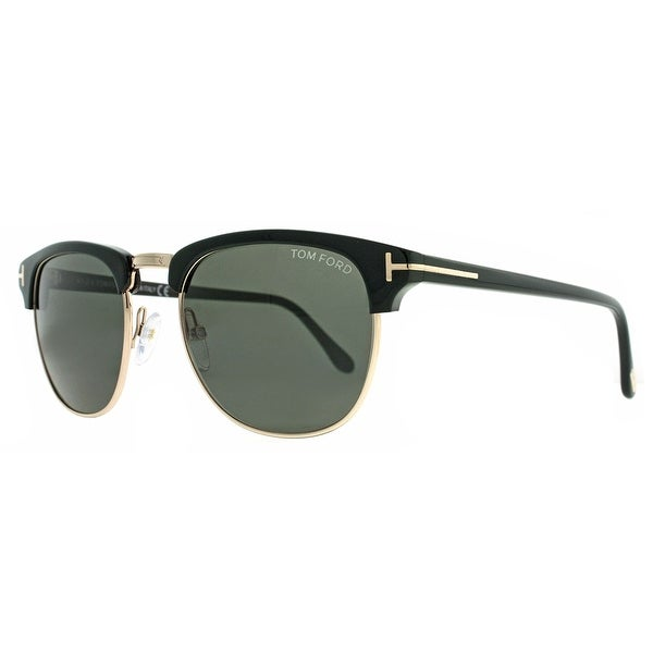 Tom Ford Henry TF 248 05N Gold/Black Clubmaster Sunglasses - 51mm-20mm-145mm