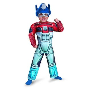 Optimus Prime Rescue Bot Muscle Chest Costume - Blue