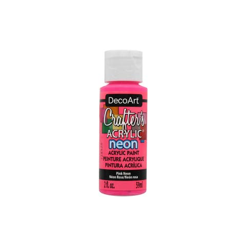Decoart Crafter's Acrylic Paint 2oz Neon Pink
