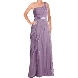 Adrianna Papell Womens Ruffled Prom Evening Dress