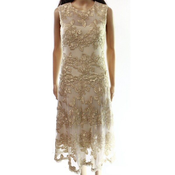 Shop Avery G New Beige Illusion Lace Women S Size 8 T