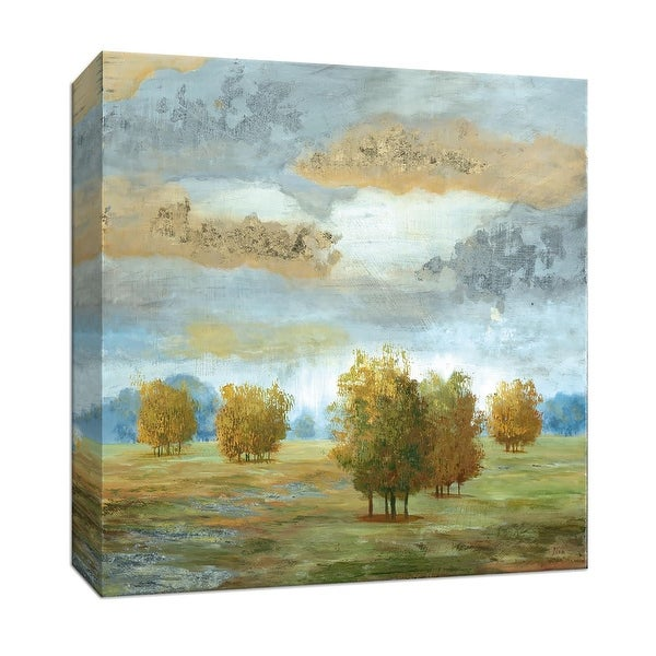 """PTM Images 9-146848 PTM Canvas Collection 12"""" x 12"""" - """"Lush Meadow II"""" Giclee Rural Art Print on Canvas"""