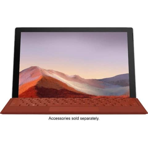 """Microsoft Surface Pro 7, 12.3"""" Touch-Screen 128GB Solid Drive Platinum"""