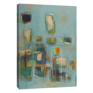 """PTM Images 9-105419  PTM Canvas Collection 10"""" x 8"""" - """"Block Party 1"""" Giclee Abstract Art Print on Canvas"""
