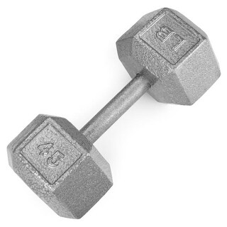 BrybellyHoldings SWGT-310 45 lbs. Cast Iron Hex Dumbbell