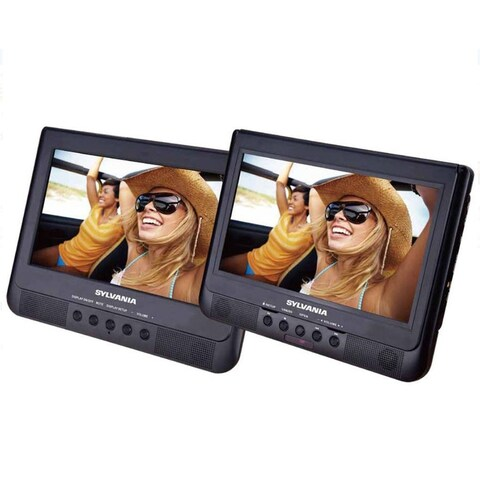 "Sylvania SDVD1037 10.1"" Dual Screen Portable Car DVD Media Player Manufacturer Refurbished"