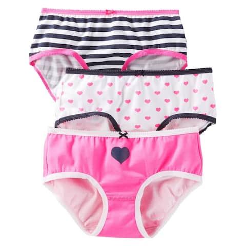 OshKosh B'gosh Big Girls' 3-Pack Stretch Cotton Panties, 12 Kids