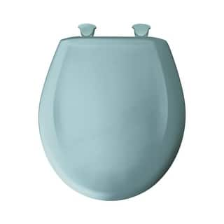 turquoise toilet seat cover. Bemis 200SLOWT Round Closed Front Toilet Seat and Lid with Whisper Close  Seats For Less Overstock com