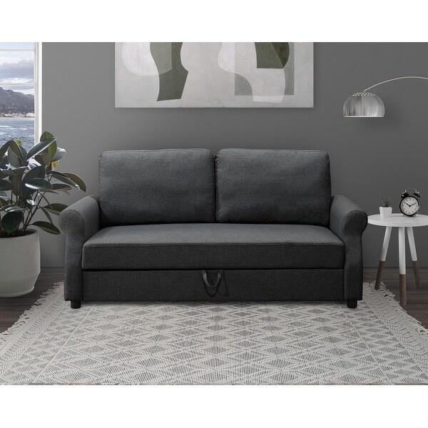 Abbyson Kayla Fabric Storage Sofa. Opens flyout.