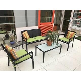 Corvus Antonio Outdoor 4-piece Sling Fabric Conversation Set