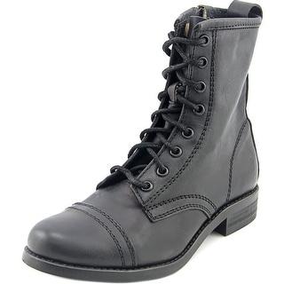 Steve Madden Charrie Cap Toe Leather Combat Boot