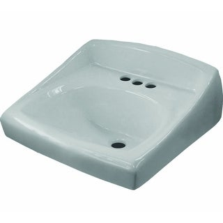 "Sloan SS-3003 20-3/4"" Single Basin Wall Mount Vitreous China Lavatory Sink - White - N/A"