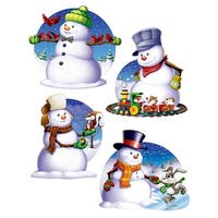 Club Pack of 48 Assorted Snowman Cutouts Christmas Decorations 15.5""