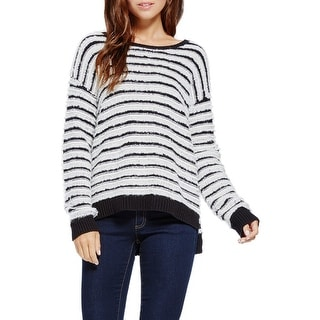 Two by Vince Camuto Loopy Stitch Long Sleeve Pullover Sweater - M