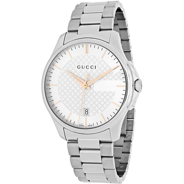 Gucci Men's G Timeless Silver Dial Watch   Ya126442 by Gucci