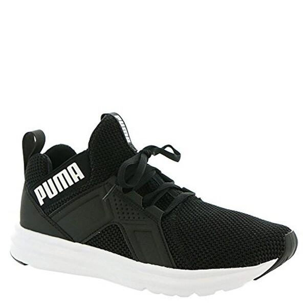 Shop Puma Women's Enzo Weave Sneaker, Black White, 10 M Us