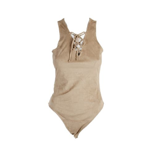 Jack by Bb Dakota Camel Sleeveless Bodysuit S