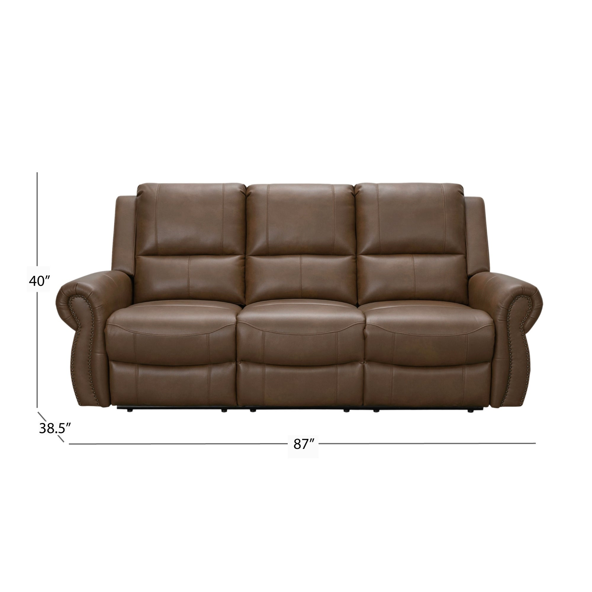 Abbyson Skyler Cognac 2 Piece Leather Reclining Living Room Set Overstock 12382271