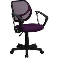 Boswell Low-Back Purple Mesh Swivel Home/Office Task Chair w/Arms