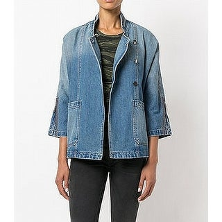 Current/Elliot NEW Blue Womens US Size Small S IT 1 Crosby Denim Jacket