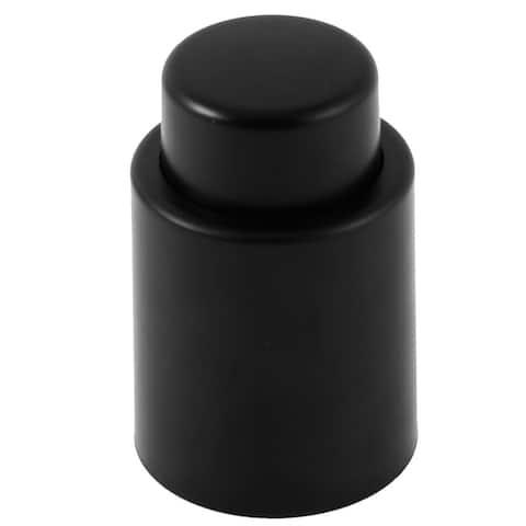 Vacuum Sealed Wine Champagne Liquor Storage Bottle Press Stopper - Black