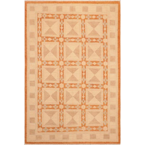 """Boho Chic Ziegler Perry Hand Knotted Area Rug -6'0"""" x 8'7"""" - 6 ft. 0 in. X 8 ft. 7 in."""